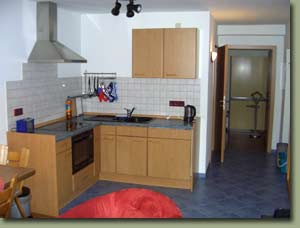 Picture of the interior of the holiday flat showing the kitchenette